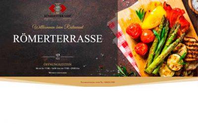 Webseite für Restaurant Römerterrasse ist online
