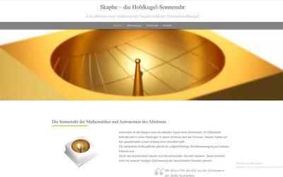 Skaphe – die Hohlkugel-Sonnenuhr ist online!
