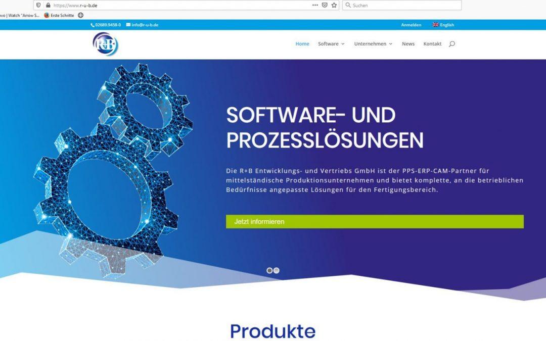 R+B Softwarelösungen: Webseite mit neuem Look