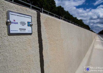 Industriefotografie Baustellenfotografie Fahrzeugrueckhaltesystem Autobahn