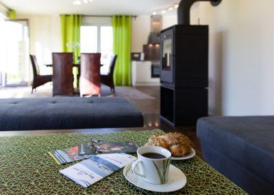 Fotografie für Tourismus: Ferienwohnung Wohnzimmerbereich