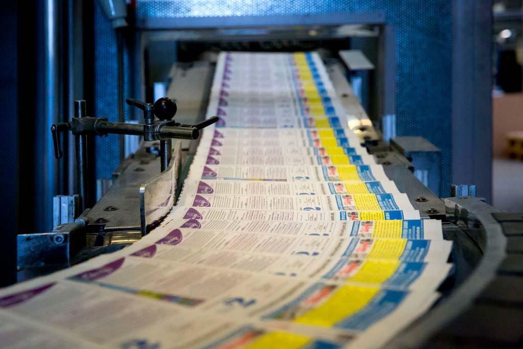 Industriefotografie im Druckhaus Zeitungsverlag: ein Firmenportrait