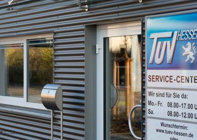 Fotografie für Werbung: Containergebäude Eingangsbereich