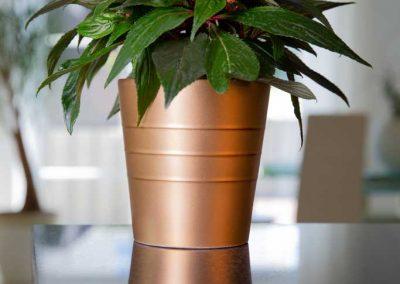 Produktfotografie Blumentopf aus Keramik.