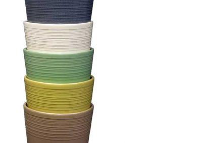Produktfotografie Blumentoepfe aus Keramik im Farbenset.