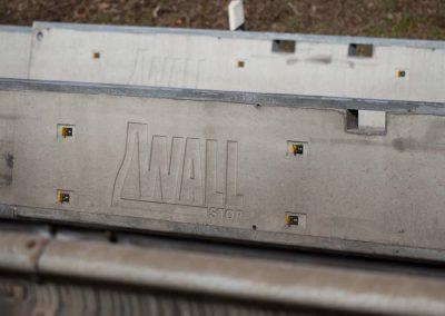 Industriefotografie Mobile Betonschutzwand an einer Baustelle der B49.