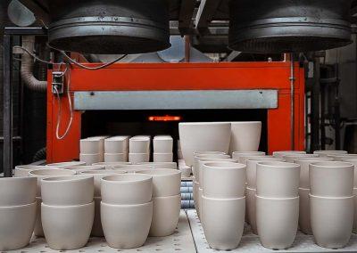Industriefotografie Produktionshalle mit Schnellbrandofen