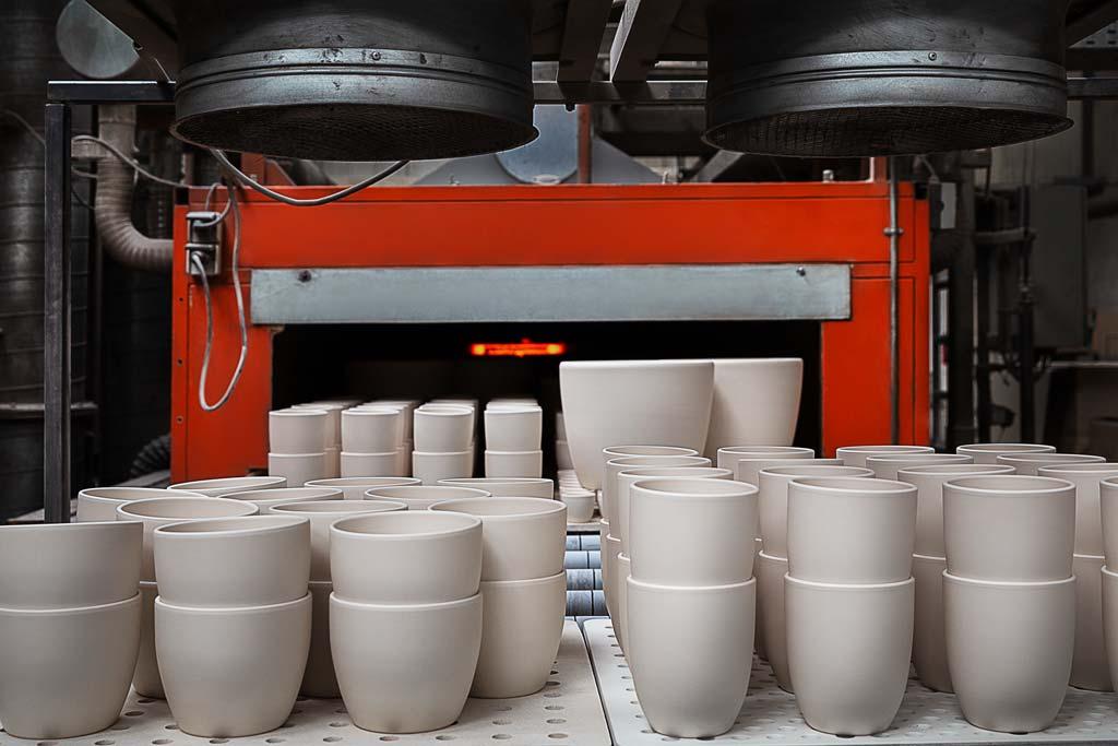 Industriefotografie: Keramikfabrik mit Brennofen