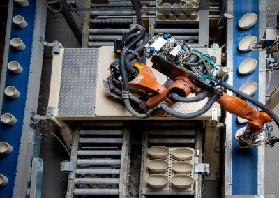 Industriefotografie Produktion Halle Roboter Technik