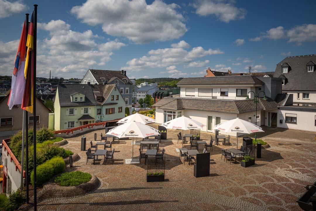 Luftbildaufnahme im Auftrag des Restaurants Römerterrasse
